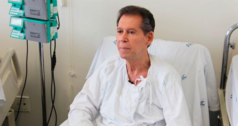 Vamberto Luiz de Castro, 62, é funcionário público aposentado de BH e sofria de um linfoma terminal — Crédito: Hugo Caldato/Hemocentro RP/Divulgação